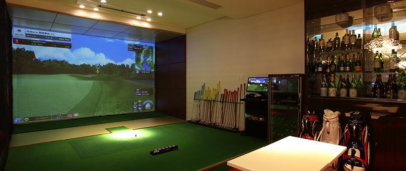 ゴルフ シュミレーション ご自宅でのシュミレーションゴルフ施工『株式会社AT KUON』
